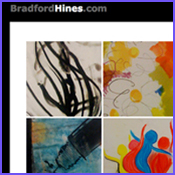 brad hines art button